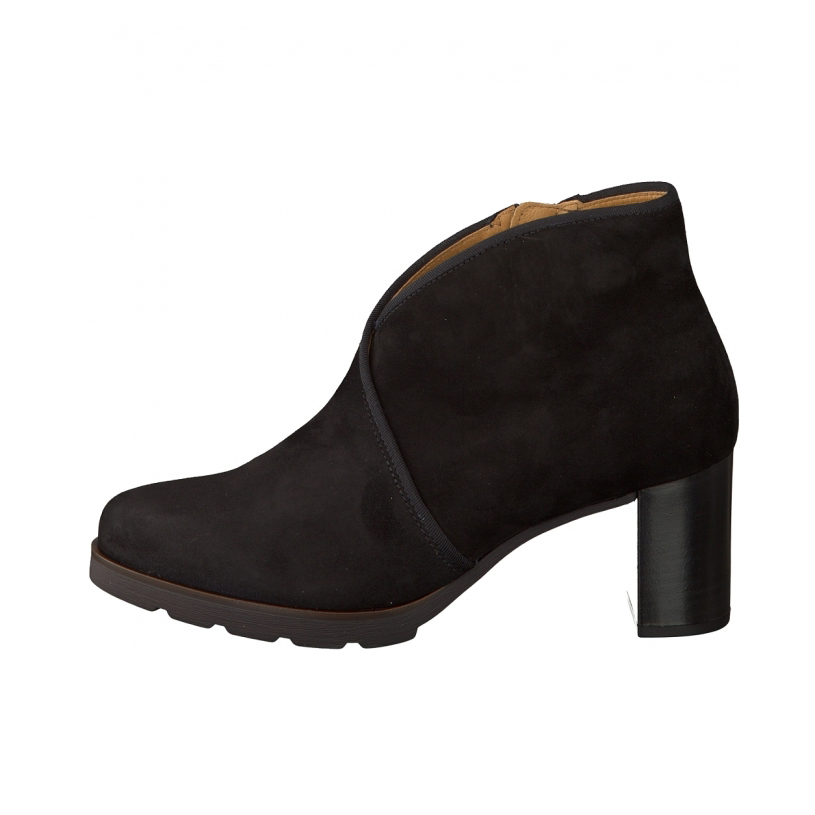 Bottine cuir nubuck noir
