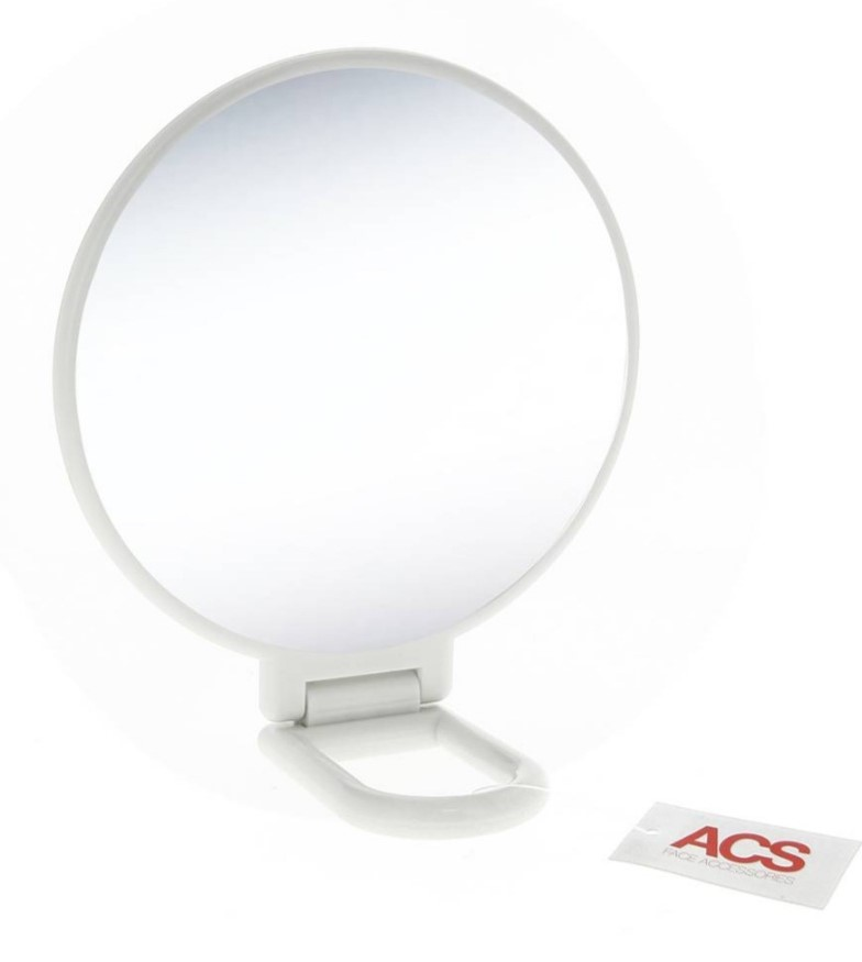 MIROIR BLANC DOUBLE FACE GROSSISSANT