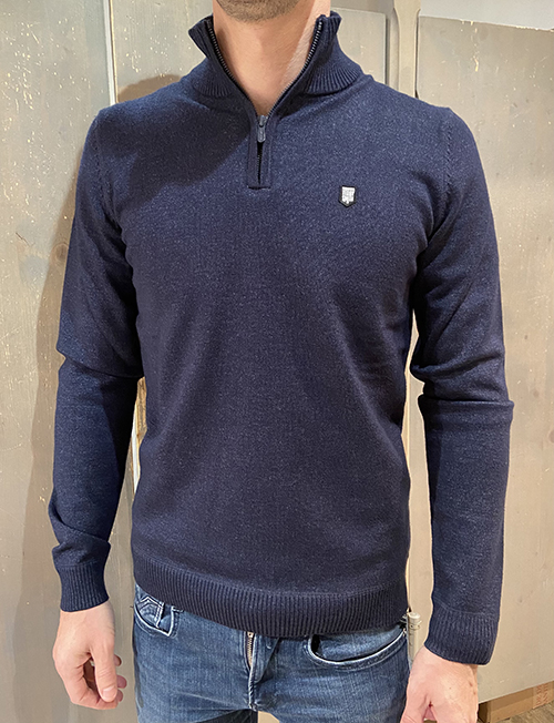 Pull Col Montant TEDDY SMITH - Bleu